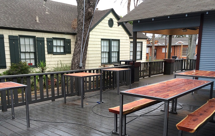 Visit our dog-friendly patio